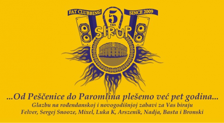 Nova Godina i peta godišnjica kluba @ Sirup, Zagreb