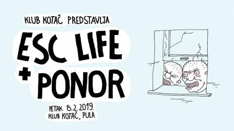 ESC Life + Ponor - live u Kotaču