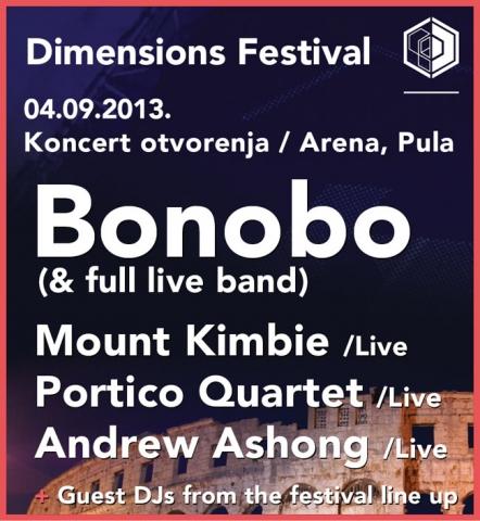 Objavljena je satnica najavnog koncerta Dimensions festivala kojeg predvodi Bonobo s bandom