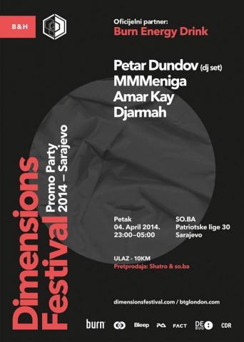 Dimensions festival launch party @ So.Ba, Sarajevo