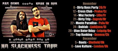 Krak in Dub i Demolition Man u sklopu turneje No Slackness na pulskom Showcaseu