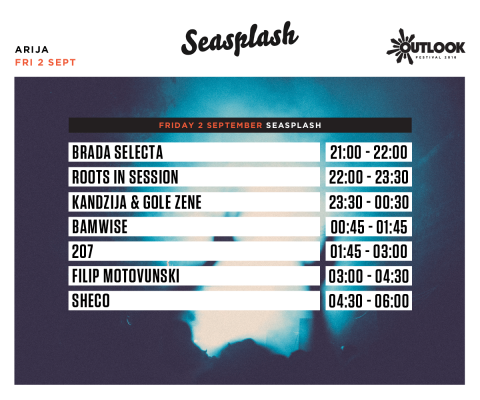Seasplash otima pozornicu Outlook festivala!