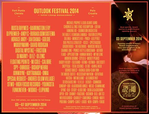 Outlook festival najavljuje prvi val izvođača