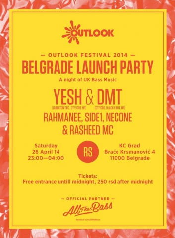 Outlook festival launch party @ KC Grad, Beograd