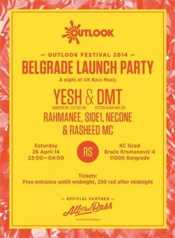 Outlook festival launch party @ KC Grad, Beograd