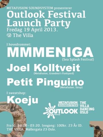 Outlook Launch party @ The Villa, Oslo, Norveška