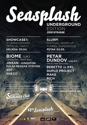 Seasplash Underground Edition @ Tuneli Zerostrasse, Pula
