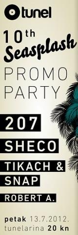 10th Seasplash promo party @ Tunel, Rijeka