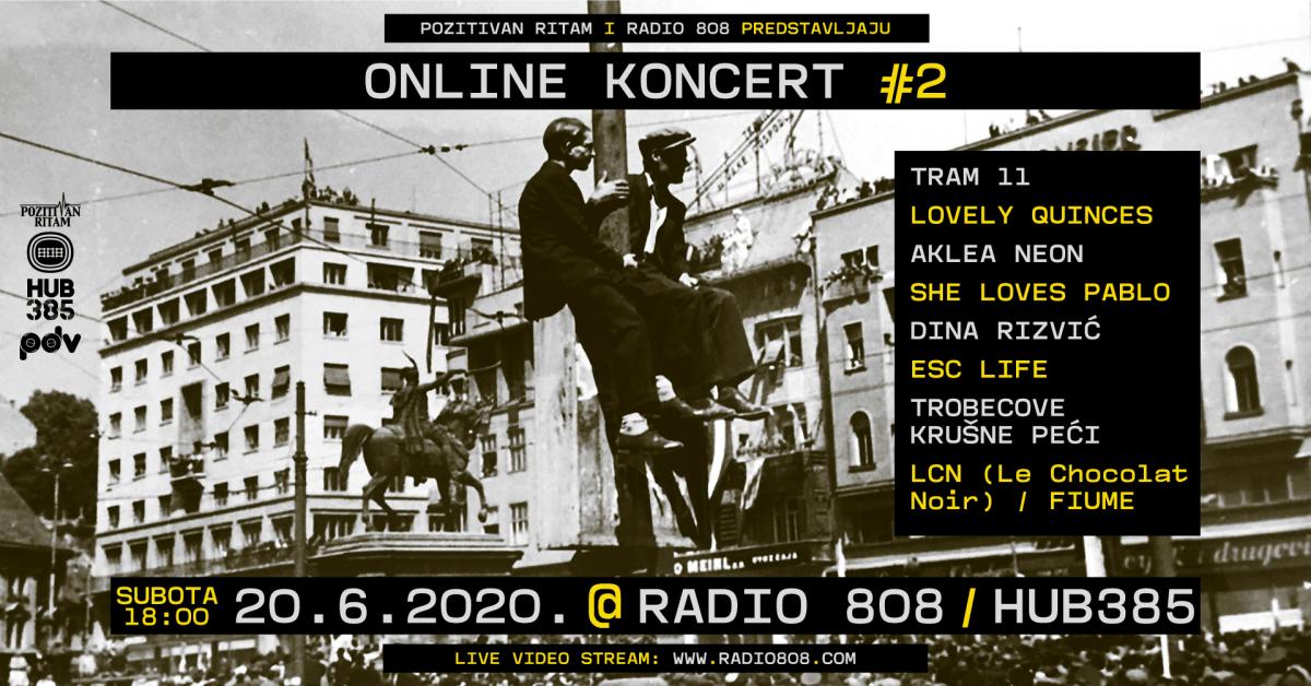Radio 808 i Pozitivan ritam predstavljaju Online koncert #2